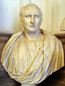 Marble bust of Cicero in the Capitoline Museums, Rome