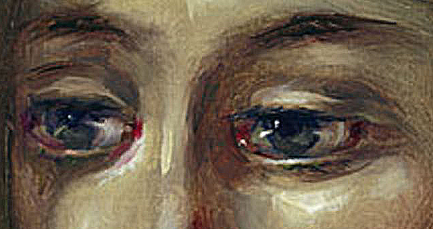 "Detail - The Eyes, from painting ""Muchacha con Aretes"" by Dulce Beatriz"