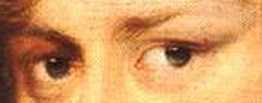 Detail of the eyes, from self-portrait by Anthony VanDyck