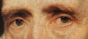 Detail of the eyes, from the portrait of Cornelis  van der Geest by Anthony VanDyck